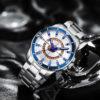 Ceas elegant metalic cronograf Curren fata