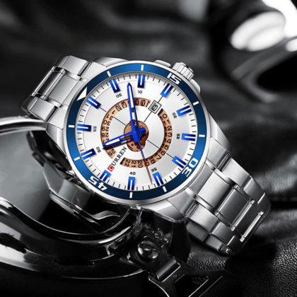 Ceas elegant metalic cronograf Curren profil