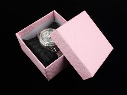 Cutie cadou ceas roz
