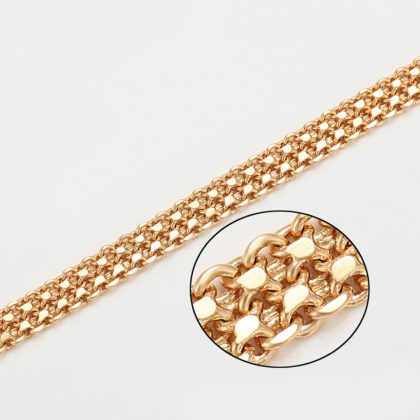 Lantisor elegant dama lat placat aur model