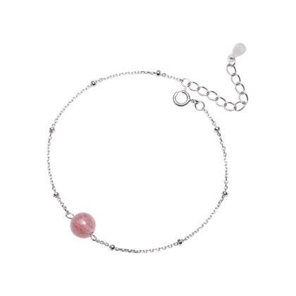 Bratara argint 925 biluta roz