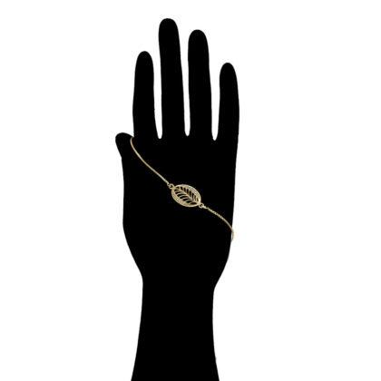 Bratara eleganta frunzulita placata aur mana