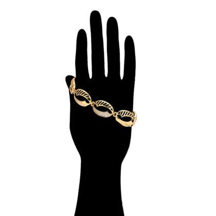 Bratara eleganta placata aur 24K cristale mana