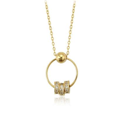 Colier dama placat aur inele
