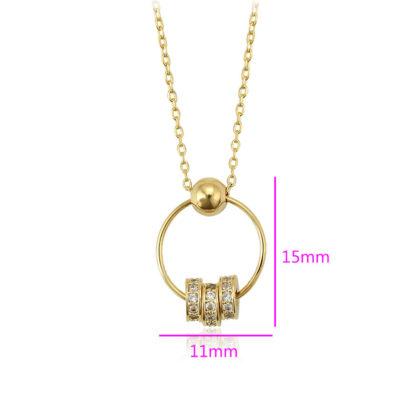 Colier dama placat aur inele dimensiuni