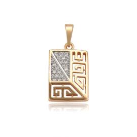 Colier placat aur pandantiv cristale