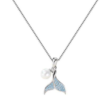 Lantisor argint 925 coada de balena