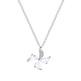 Lantisor argint 925 floricica zirconiu