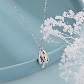 Lantisor argint 925 pandantiv ghiocel