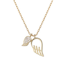 Lantisor argint 925 placat aur frunzulita