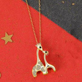 Lantisor copii argint 925 placat aur girafe