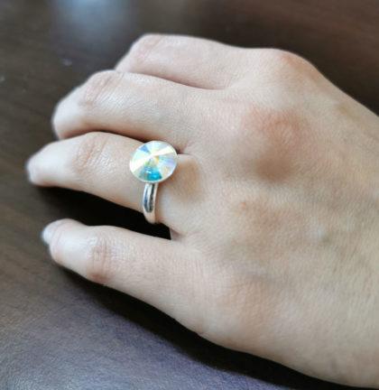 Inel argint 925 deosebit cu elemente Swarovski mana