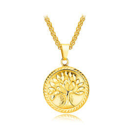 Lant placat aur pandantiv copacul vietii