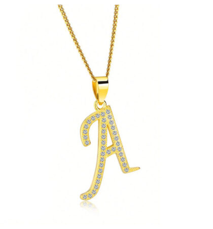 Lantisor initiala A placat aur zirconiu