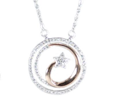 Lantisor elegant argint 925 steluta