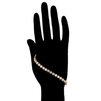 Bratara dama eleganta placata aur 24K mana