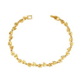 Bratara dama floricele placata aur 24K