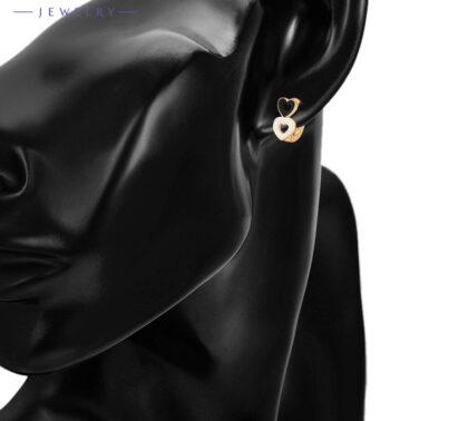 Cercei dama inimioare placati aur model