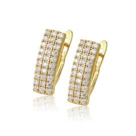 Cercei dama placati aur 24K cristale