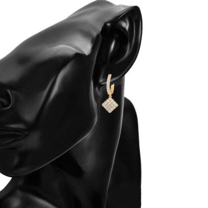 Cercei dama placati aur 24K cristale model