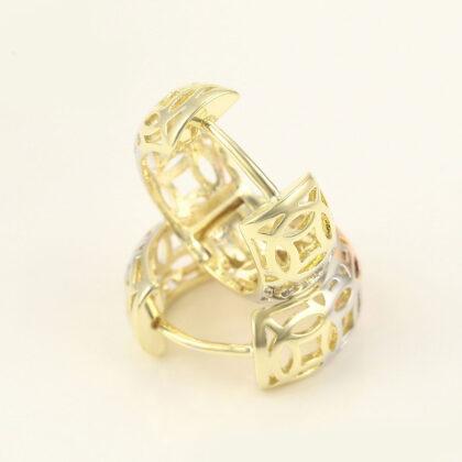 Cercei dama placati aur multicolor profil