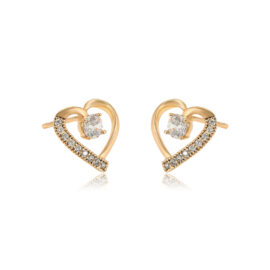 Cercei eleganti placati aur cristale