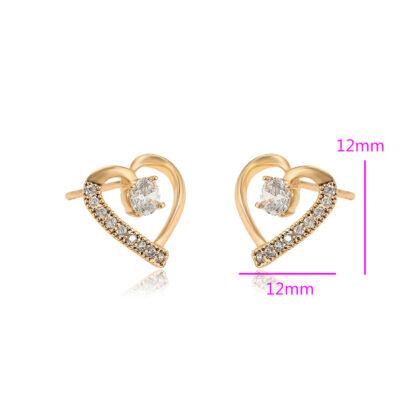 Cercei eleganti placati aur cristale dimensiuni