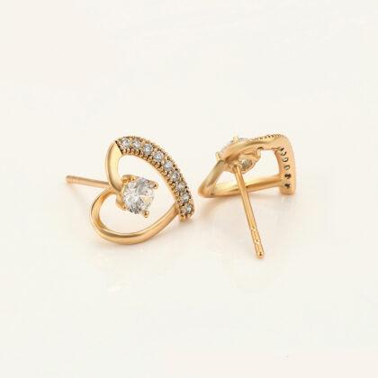 Cercei eleganti placati aur cristale profil