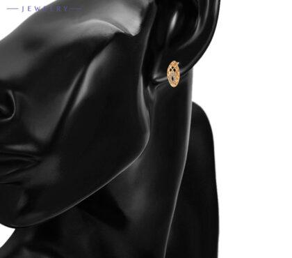 Cercei eleganti placati aur cristale zirconiu model
