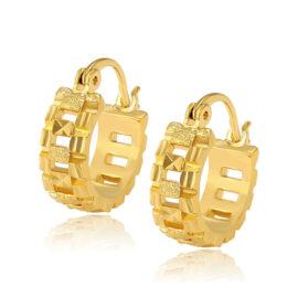 Cercei mici eleganti placati aur 24K