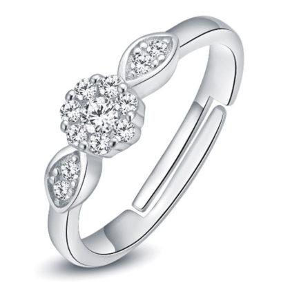 Inel floricica deosebit zirconiu argint 925