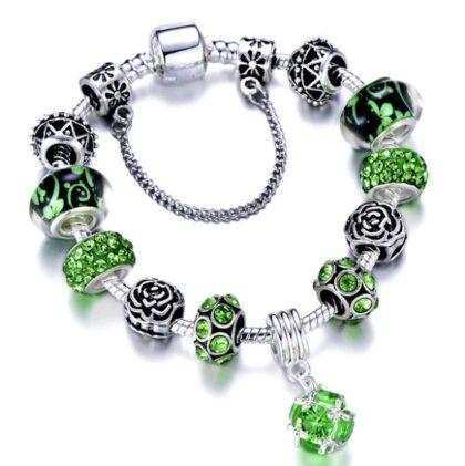 Bratara deosebita charm cristale verzi