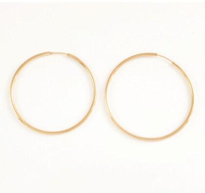 Cercei argint 925 cercuri mari placati aur