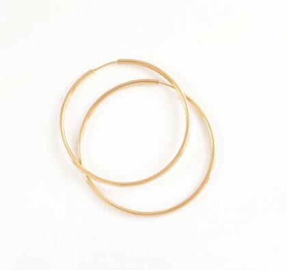 Cercei argint 925 cercuri mari placati aur sus