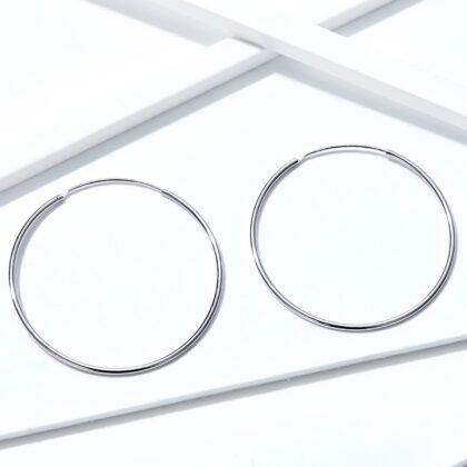 Cercei argint 925 cercuri mari sus