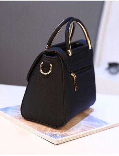 Geanta eleganta dama neagra profil