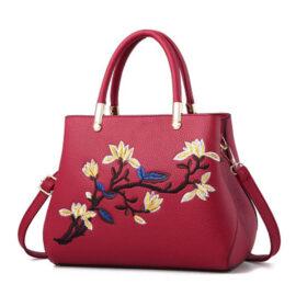 Geanta eleganta rosie imprimeu floral