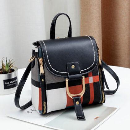 Geanta neagra model multicolor