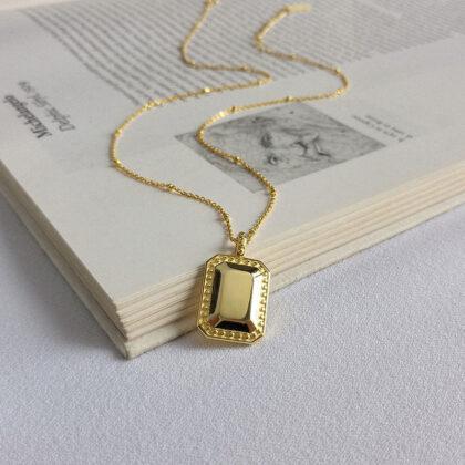 Colier elegant argint 925 placat aur fata