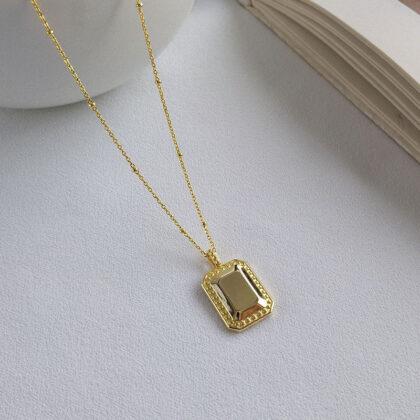 Colier elegant argint 925 placat aur sus
