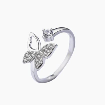Inel argint 925 fluturas zirconiu