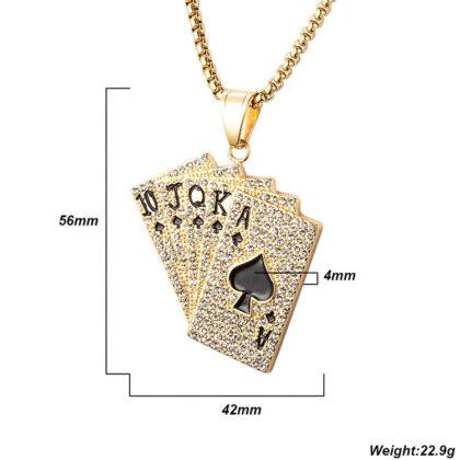 Lant placat aur pantantiv Royal Flush detalii