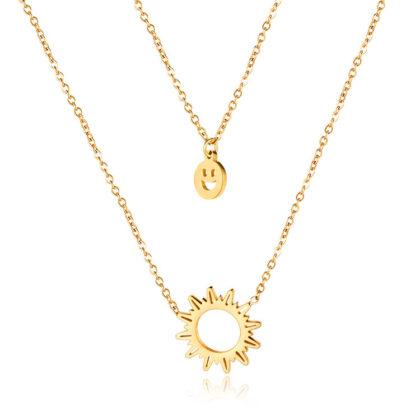 Lantisor dama placat aur pandantiv soare