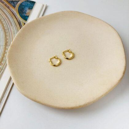 Cercei argint 925 mici placati aur sus