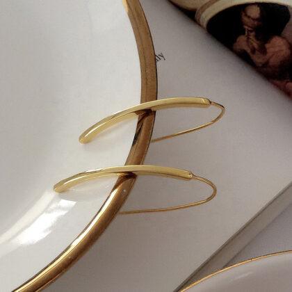 Cercei dama argint 925 placati aur sus