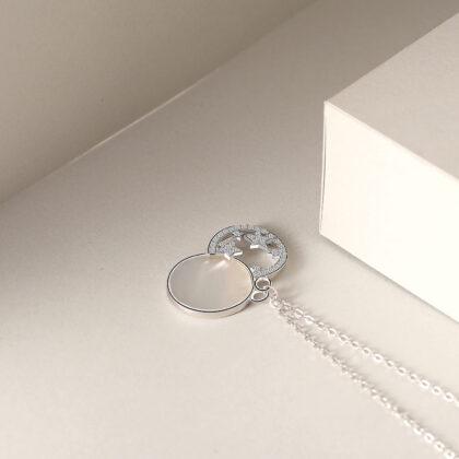 Colier argint 925 stelute zirconiu sus