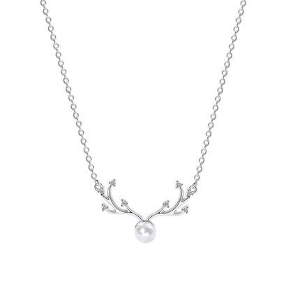 Colier elegant perluta argint 925