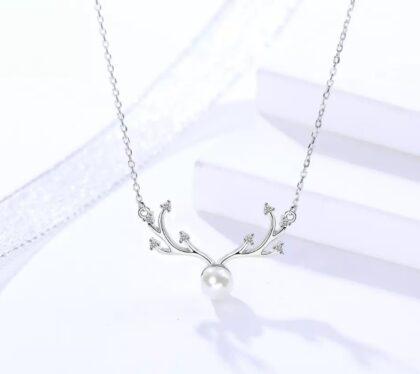 Colier elegant perluta argint 925 fata