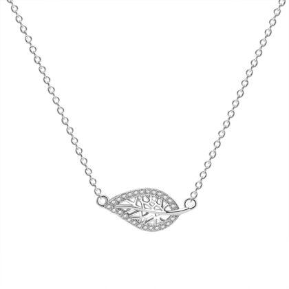 Lantisor argint 925 frunzulita zirconiu