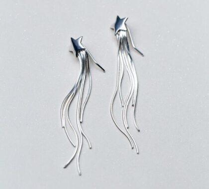 Cercei stelute argint 925 lungi